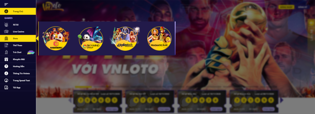 Slot game tại VNLOTO